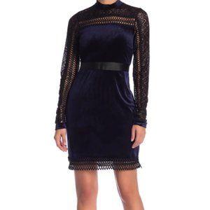 Romeo and Juliet Couture Velvet Shift Dress Size S